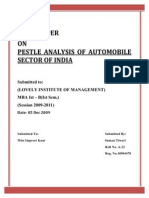 29103898 Pestle Analysis of Automobile Sector of India