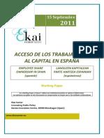 ACCESO DE LOS TRABAJADORES AL CAPITAL EN ESPAÑA - EMPLOYEE SHARE OWNERSHIP IN SPAIN (Spanish) - LANGILEEN PARTE HARTZEA KAPITALEAN ESPAINIAN (Espainieraz)