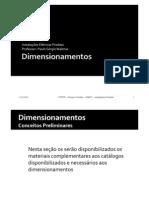 dimensionamentos