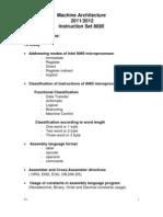 Machine Architecture(Instruction Set 8085)