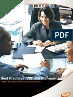 Best Practices Vendor Management