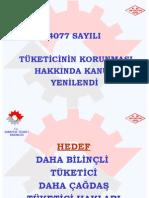 tüketici yasası 4077 DEĞİŞİKLİK