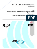 LTe Physical Layer Measurement