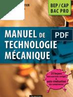 Manuel de Technologie Mecanique