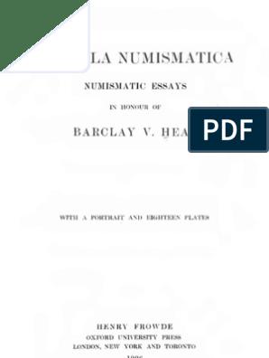 Hang Ei Gewicht.Corolla Numismatica Numismatic Essays In Honour Of Barclay