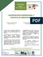 COOPERACIÓN EMPRESARIAL Y POLÍTICA DE INNOVACIÓN - BUSINESS COOPERATION AND INNOVATION POLICY (Spanish) - ENPRESEN ARTEKO ELKARLANA ETA BERRIKUNTZA POLITIKA (Espainieraz)