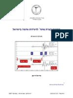 התרעה קצרת מועד לרעידות אדמה בישראל