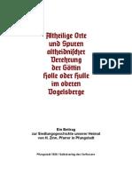 Altheidnische Orte - H. Zinn
