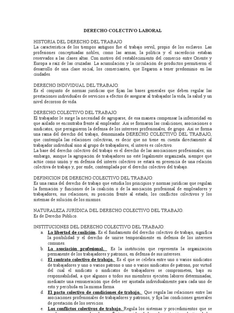 DERECHO COLECTIVO LABORAL