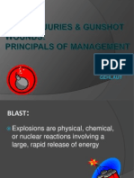 Blast Injuries & Gunshot Wounds