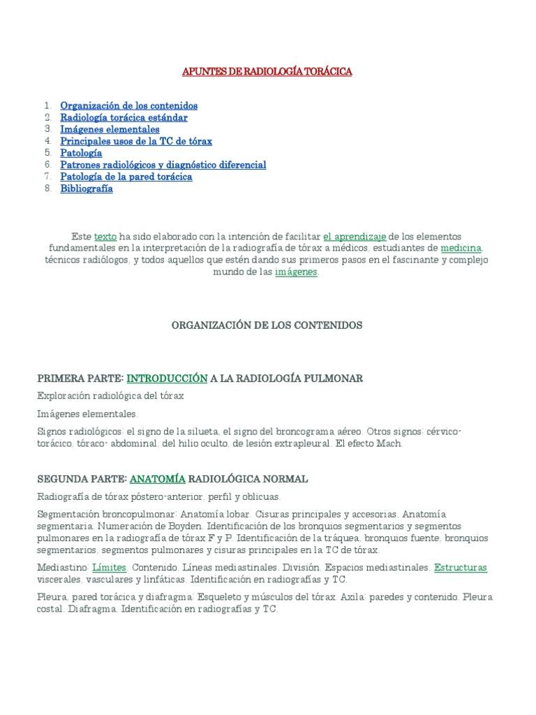18639980 Apuntes de Radiologia Toracica