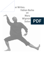 Fabian Barba on Mary Wigman's Solos      article DRJ