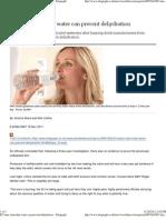 EU Bans Claim That Water Can Prevent Dehydration - Telegraph