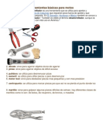 Herramientas básicas para motos