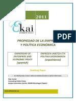 PROPIEDAD DE LA EMPRESA Y POLÍTICA ECONÓMICA - OWNERSHIP OF ENTERPRISE AND ECONOMIC POLICY (spanish) - ENPRESEN JABETZA ETA POLITIKA EKONOMIKOA (espainieraz)