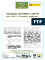 LA SOCIEDAD COOPERATIVA EUROPEA. Interés Práctico y Medidas de Fomento - EUROPEAN COOPERATIVE SOCIETY. Practical Interest and Promotion Measures (spanish) - SOZIETATE KOOPERATIBO EUROPARRA. Interes Praktiko eta Sustapen Neurriak (espainieraz)