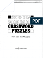Sondheim's Intro to Crossword Puzzles