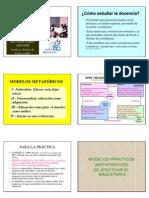 4.1 La Profesion Docente-maestro y Sus Modelos