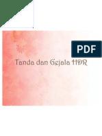 Tanda Dan Gejala HDR KASUS