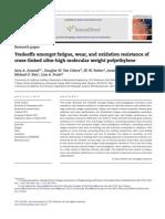 Tradeoffs Amongst Fatigue Wear and Oxidation Resistance of Cross-linked Ultra-high Molecular Weight Polyethylene