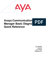 Avaya Communication Manager Basic Diagnostics Quick Reference