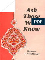 Mohammad Tijani Smaoui - Ask Those Who Know