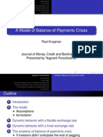 A Model of Balance-Of-Payments Crises
