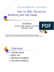 Tutorial 1 - Introduction to UML - Structura Modeling and Use Casesl