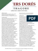 Pythagore -Vers Dorés ou Vers d'Or