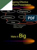Designing Effective Power Point Presentation