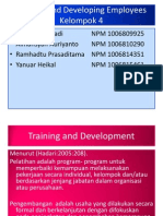 Presentasi Msdm Kelompok 4 Training and Developing