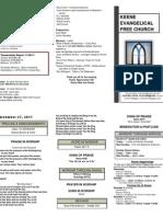 Church Bulletin -November 27th