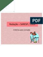 saresp_criterio de correção-2009