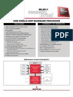 GSM Handset Architecture - Using ML2011