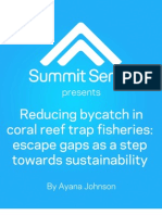 Reducing bycatch in coral reef trap fisheries