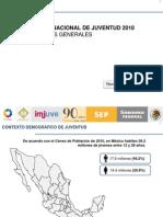 Encuesta Nacional De la Juventud 2010 - Resultados Generales 2011