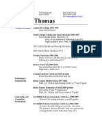 Tiffani Thomas Resume 2011