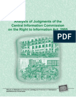 PRIA Analysis Of CIC Judgements