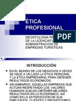 Deontología Profesional de La Licenciatura en TURISMO[1]