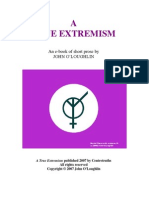 Preview of a True Extremism