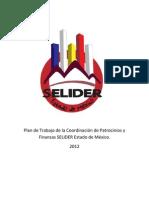 Plan de Trabajo de la Coordinación Regional de Patrocinios y Finanzas SELIDER Estado de México