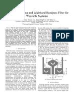 Wideband Antenna and Wideband Bandpass Filter