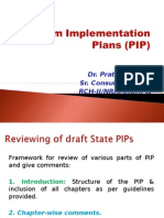 Program Implementation Plans (PIP)