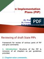 Program Implementation Plans (PIP)