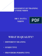 Quality Training Dr Utsuk Datta