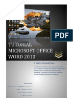 Tugas Komputer Tutorial Microsoft Office Word 2010 Book Edition