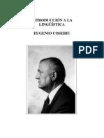 COSERIU, Eugenio - Introducción a La Lingüística