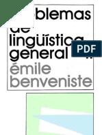 BENVENISTE Emile - Problemas de Lingüística General II