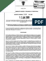 Decreto2190de2009ReglamentaSubsidioVivienda