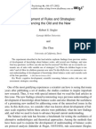 Development of Rules and Strategies
